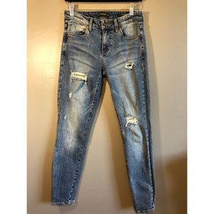 Guess Mid Rise Skinny Distressed Sexy Curve Jeans